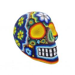 Large Huichol beaded skull