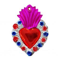 Pink Flowery border Sacred heart