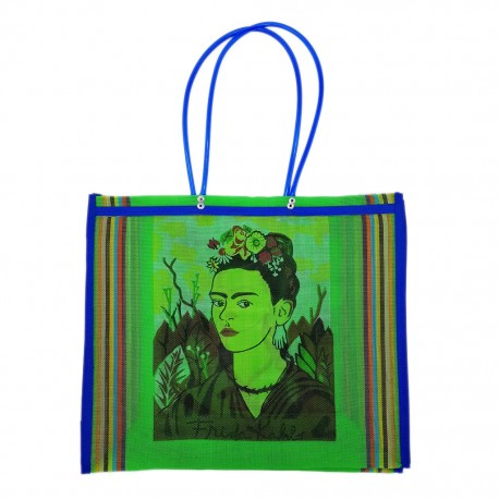 Green Frida Kahlo market bag