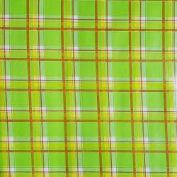 Green Plaid oilcloth