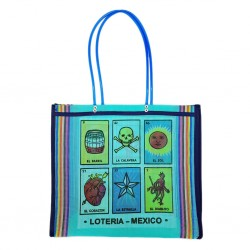 Cabas Loteria Turquoise