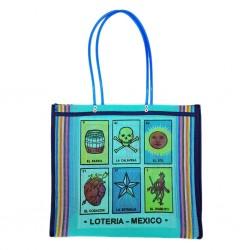 Turquoise Loteria market bag