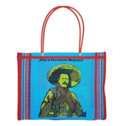 Blue Pancho Villa market bag