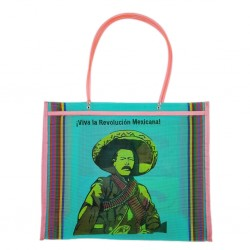 Turquoise Pancho Villa market bag
