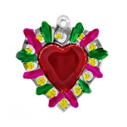 Coeur sacré Halo fleuri