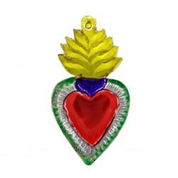 Yellow Flaming sacred heart