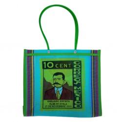 Turquoise Zapata market bag