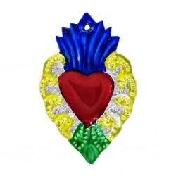 Sagrado corazón Mexicano Azul