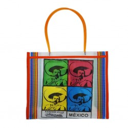 White Pancho Villa market bag