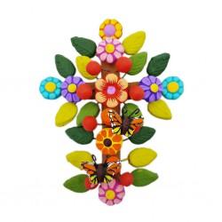 Flowers and butterflies Cross