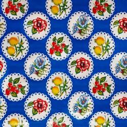 Hule Granadas Azul rey