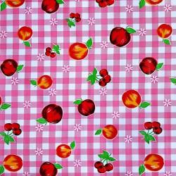 Pink Frutal Oilcloth