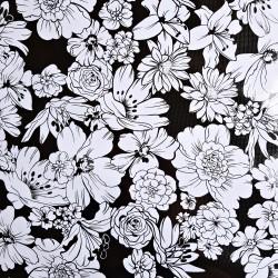Hule Flores Negro