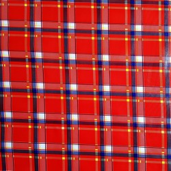 Red Plaid oilcloth