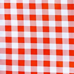 Orange Check oilcloth