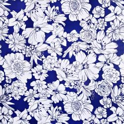 Navy Flores oilcloth