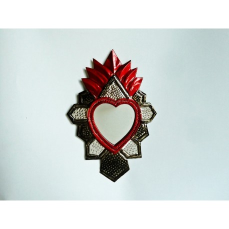 Sacred heart with mirror Aztec
