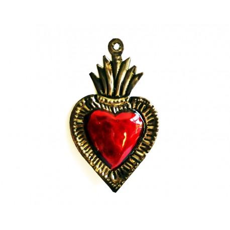 Tin flaming sacred heart