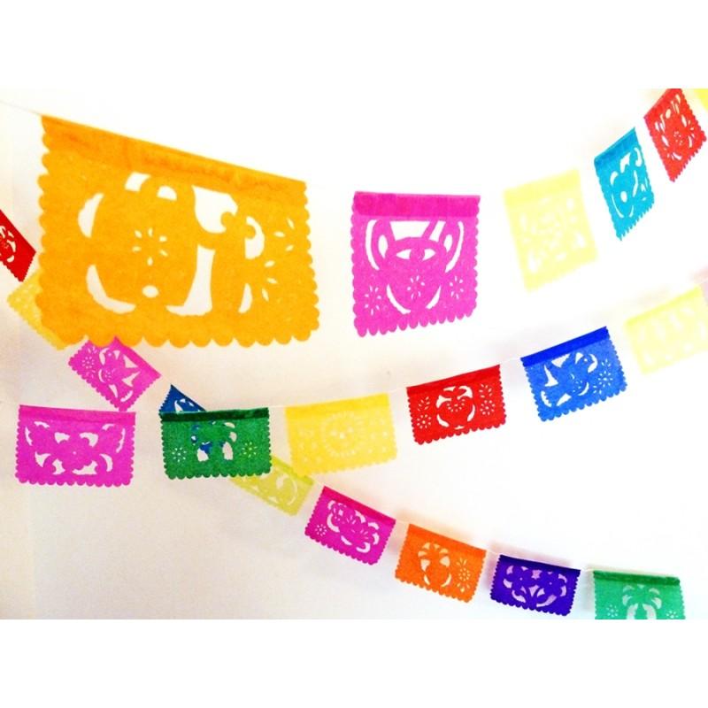 Mini paper bunting Fruta - Papel picado banner, mexican