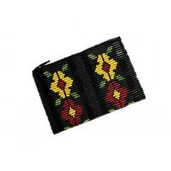 Huichol beaded coin purse