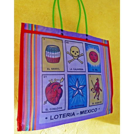 La Loteria market bag - Purple