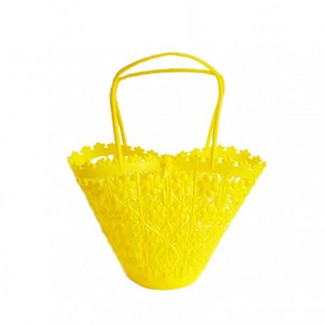 Little flower basket - Yellow