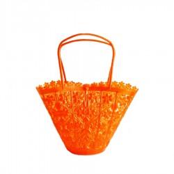 Pequeña cesta con flores - Naranja