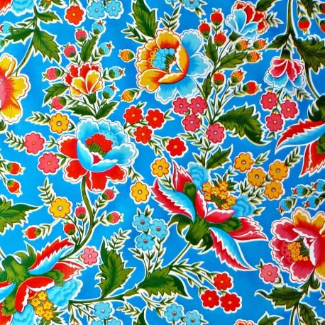 Blue Fantasia oilcloth