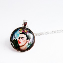 Necklace selfportrait Frida Kahlo